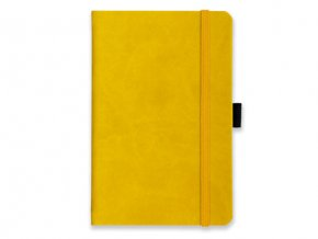 LANYO II poznámkový zápisník s gumičkou 132x213 mm, žlutý