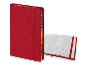 COLOR NOTE I poznámkový zápisník s gumičkou 90x140 mm, červený