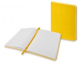 BRISA poznámkový zápisník 130x170 mm, žlutý