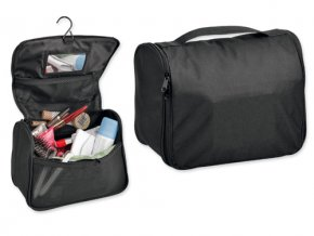 COSMETA polyesterová kosmetická taška, 600D, černá