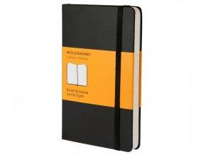 Zápisník Moleskine, černý linkovaný (S), tvrdá vazba
