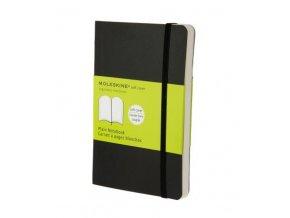 moleskine note book plain black soft cover pocket 9788883707148
