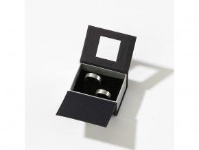 Dárková krabička černá/stříbrná 3614