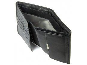 Braun Büffel luxusní pánská kožená peněženka - černá