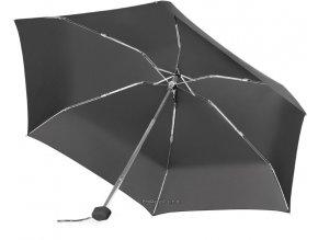 Černý pětidílný skládací deštník včetně pouzdra