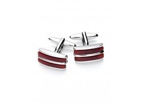 Luxusní manžetové knoflíčky Vincenzo Boretti - červené